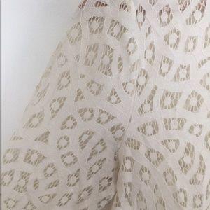 LOFT / White boxy eyelet blouse